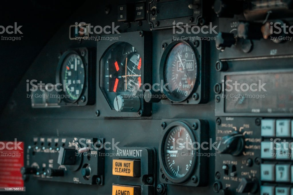 Old Dismissed Air Fighter Cockpit Details And Close Ups Of