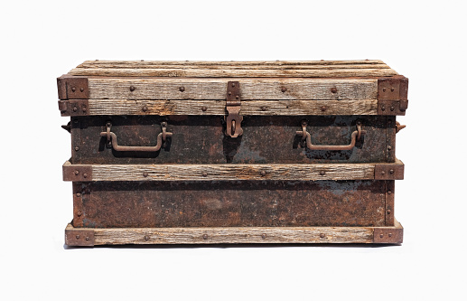 Old distressed chest