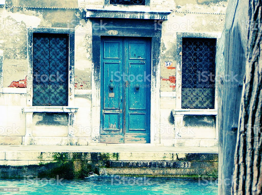 Old distressed door - Venice royalty-free stock photo