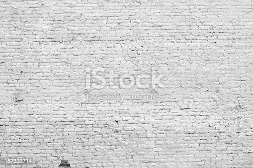 . Old Distressed White Brick Wall stock photo   iStock
