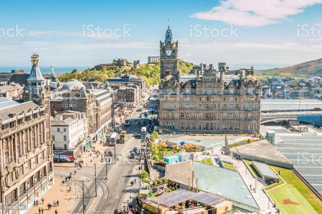 Old district of Edinburgh stock photo