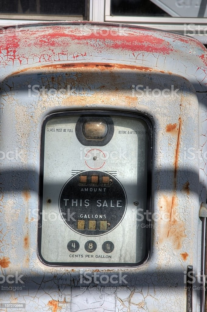 Old disused gas pump royalty-free stock photo