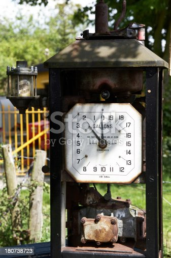 Old disused gas pump