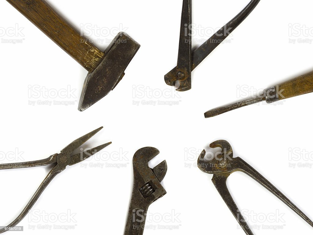 Old DIY tools royalty-free stock photo