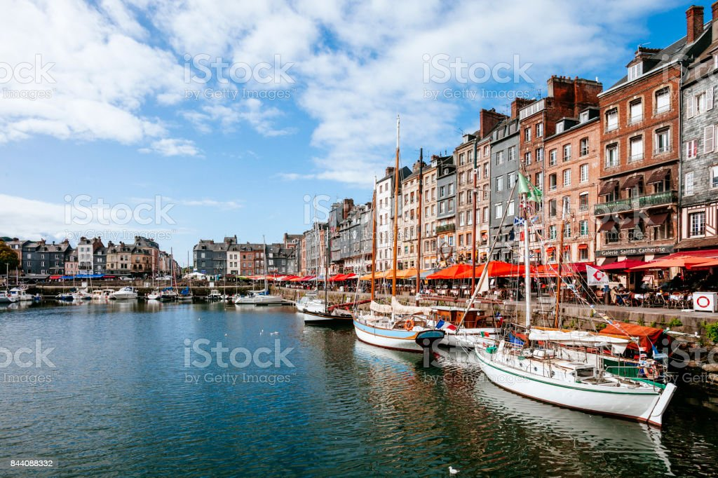 Old dock - Honfleur, France stock photo