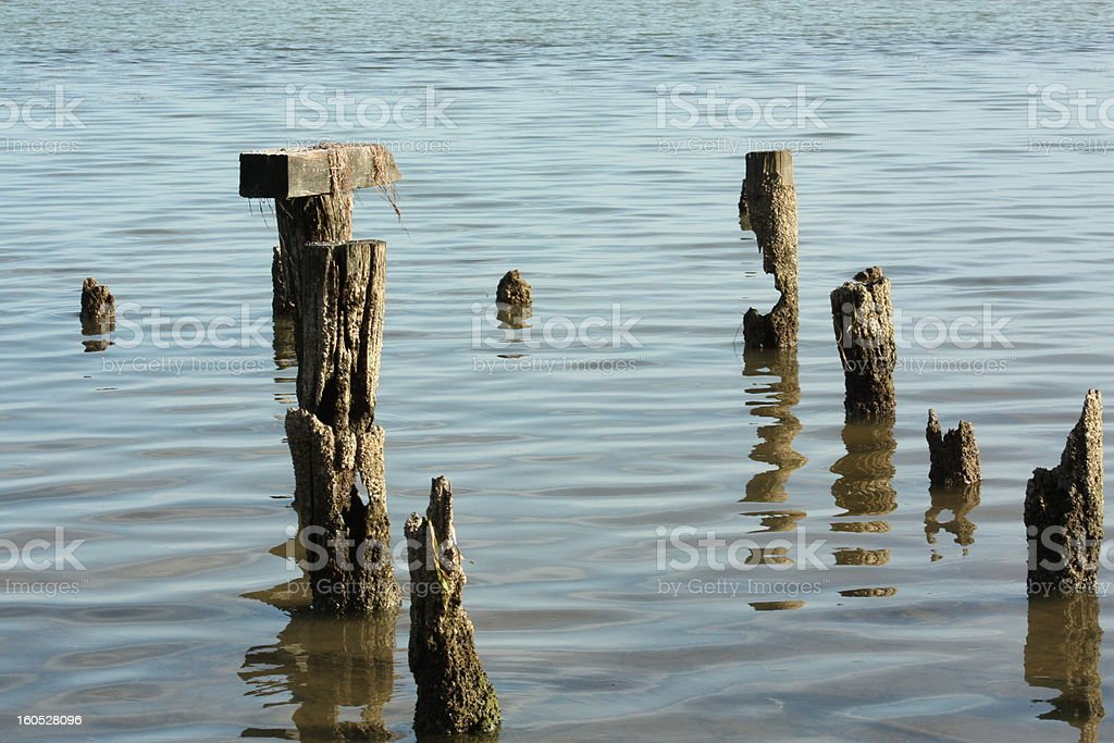 old dock royalty-free stock photo