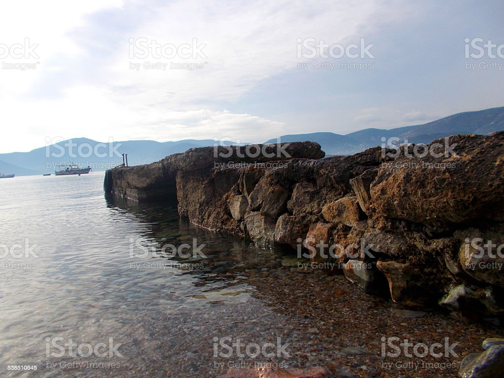 Old dock stock photo