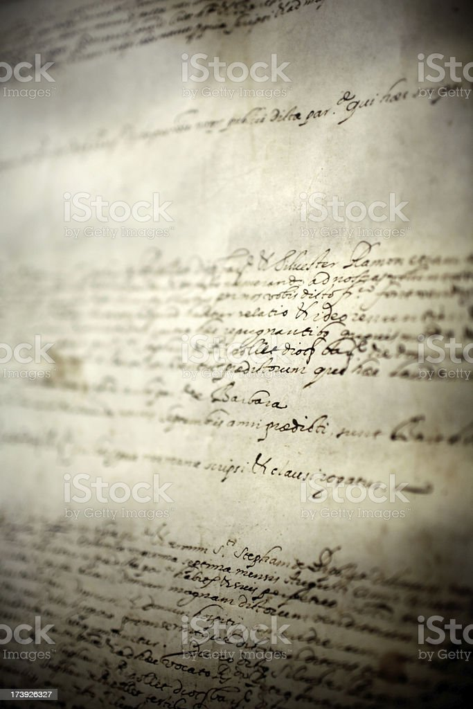 old document stock photo