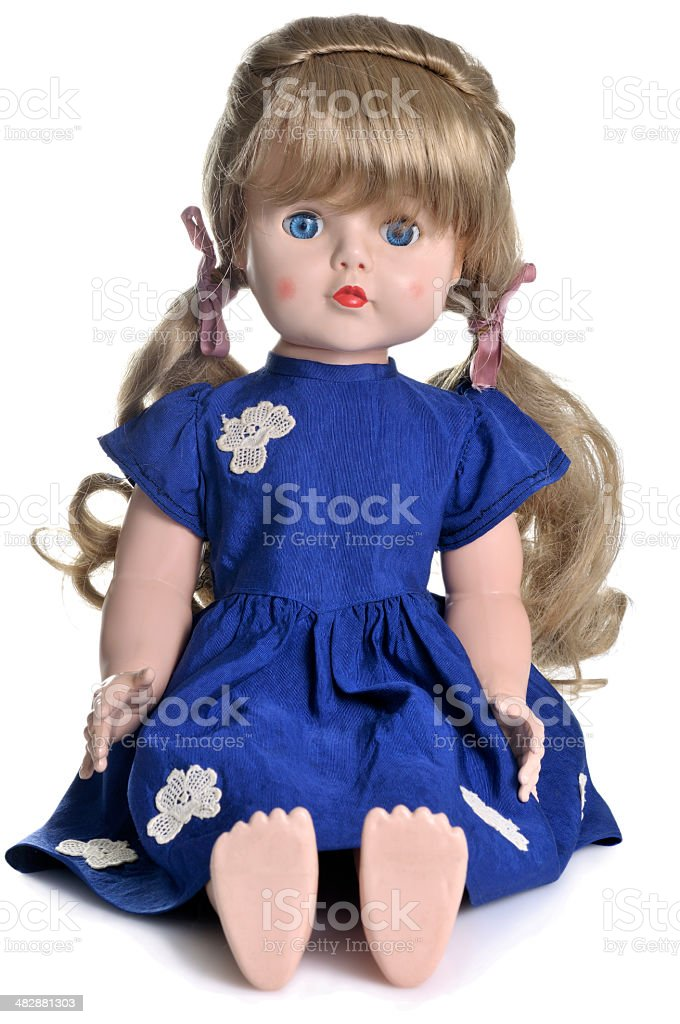 Old doll stock photo