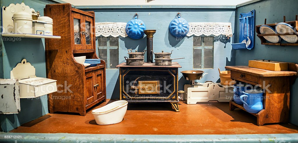 old dollhouse stock photo