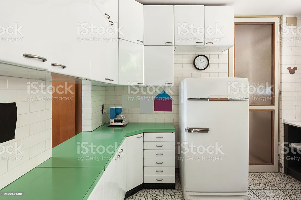 Old domestic kitchen stock photo