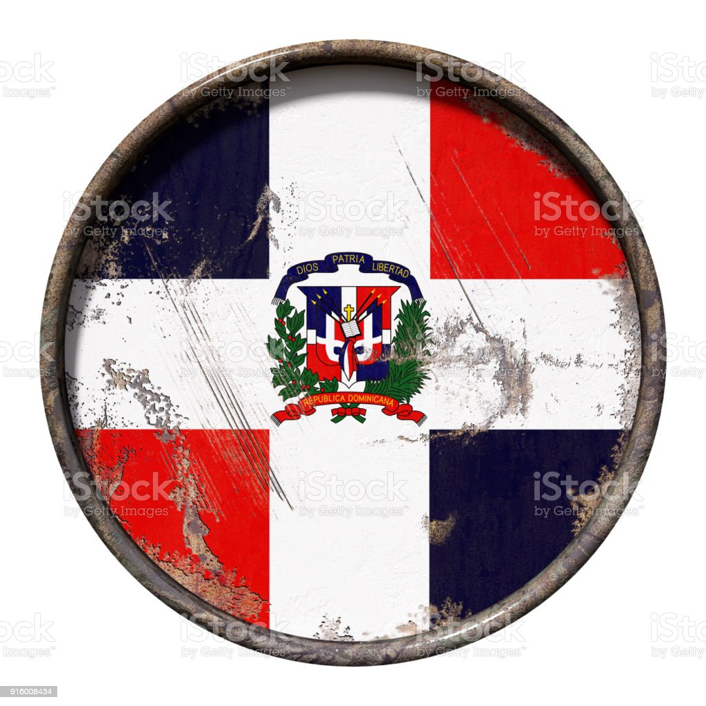 Old Dominican Republic Flag Stock Photo More Pictures Of Abstract