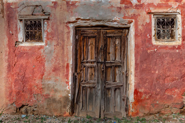 Old Door and windows, Morocco, North Africa stock photo