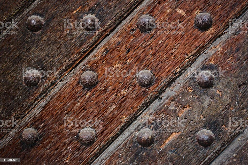 Old Door Closeup stock photo
