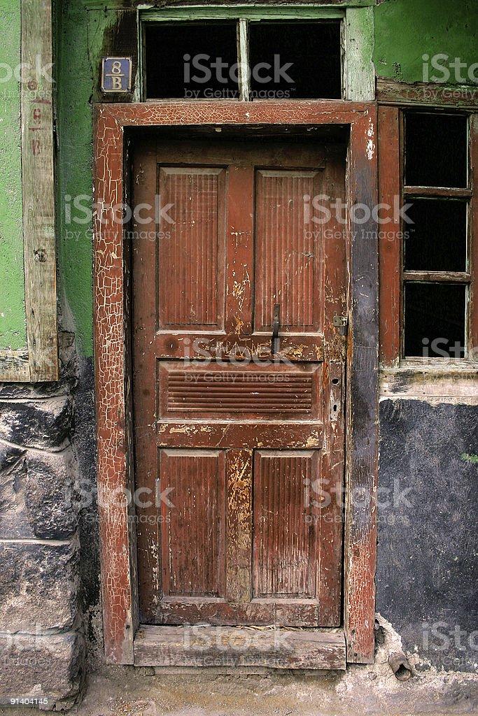 old door, dirty ver 2 royaltyfri bildbanksbilder
