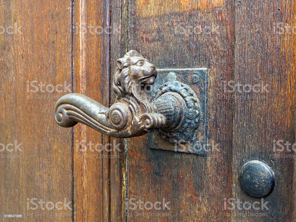 Old Door Handle Lion stock photo | iStock