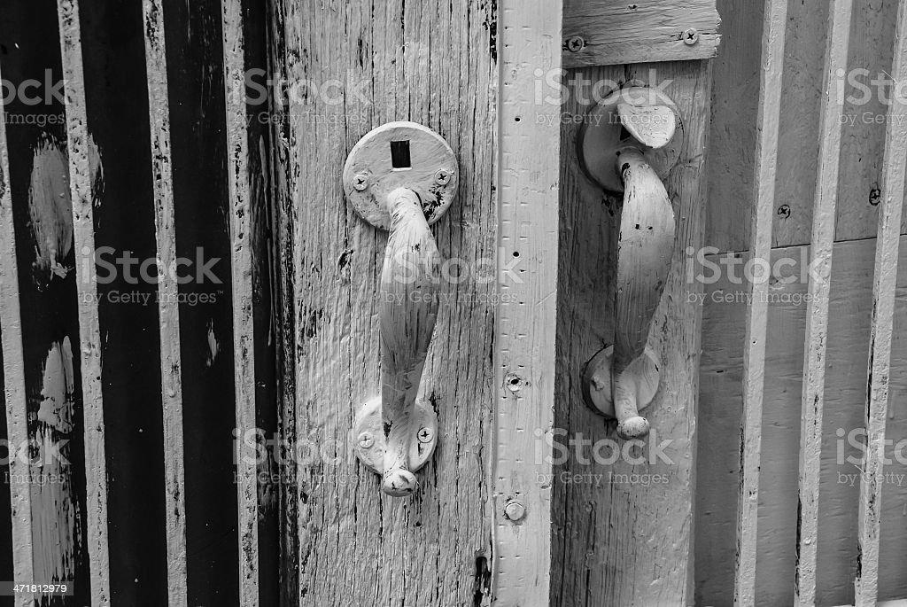 Old Door Handles royalty-free stock photo