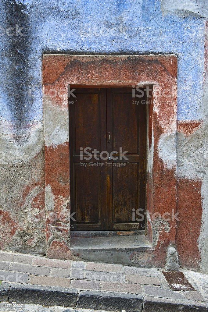 Old Door in Mexico stock photo
