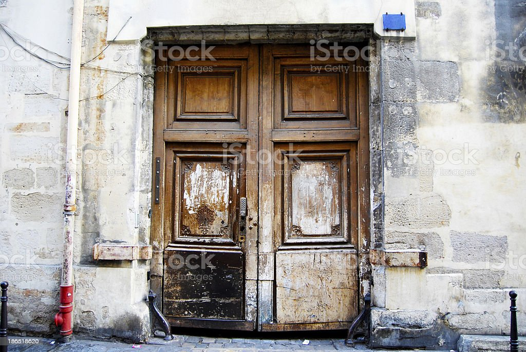 Old door in Paris, France royalty-free stock photo
