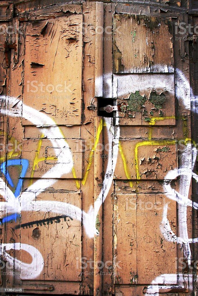 Old door in Riga royalty-free stock photo