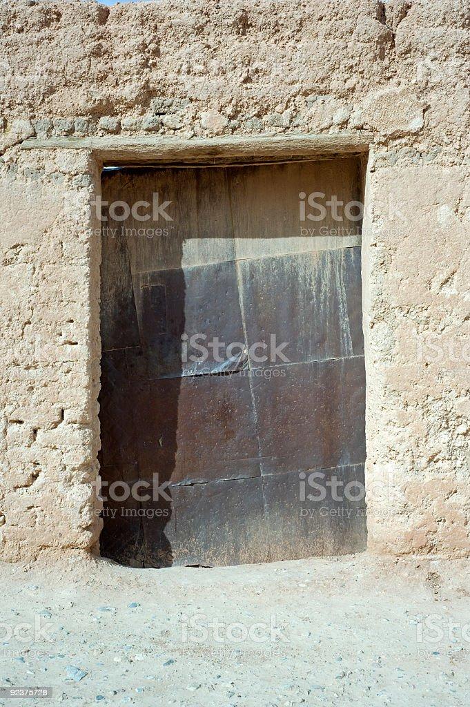 Old Door in the Medina royalty-free stock photo