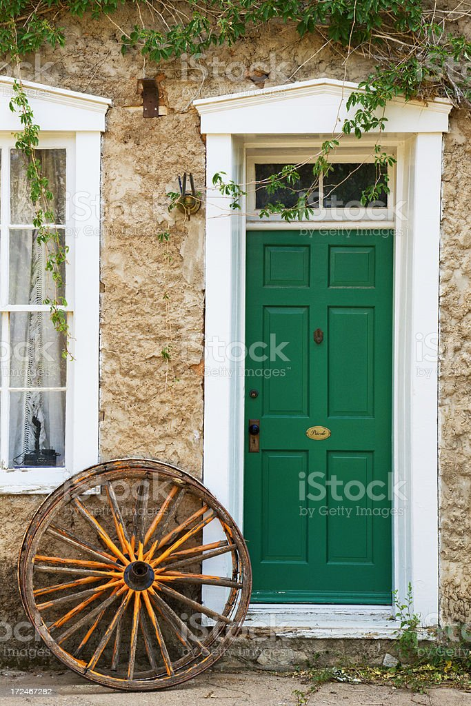 Old door in Lincoln, NM, USA. Lincoln was at the center of the...
