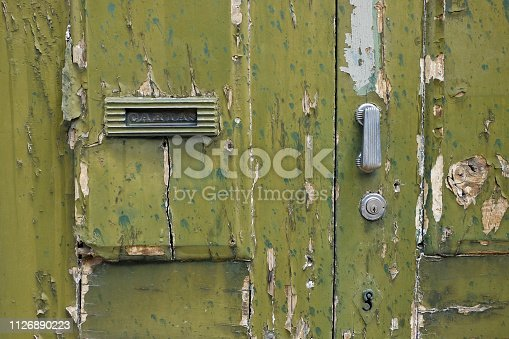 Old door lock - architectural detail - with copy space