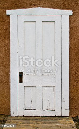 An old white door from the 1800's