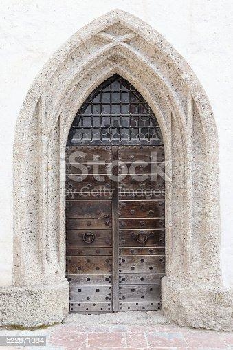 Old wooden door, Salzburg, Austria