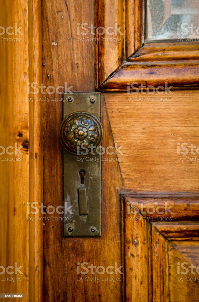 Old Door With Handle stock photo