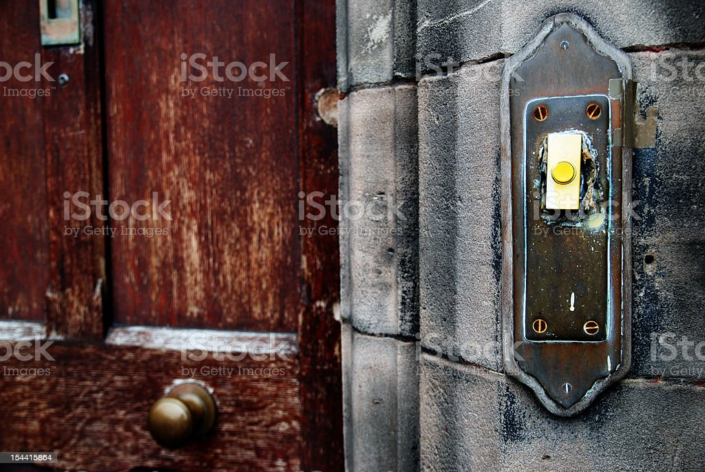 Old doorbell royalty-free stock photo
