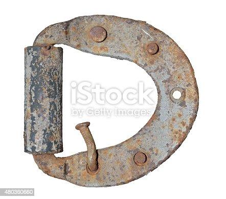 istock Old door-hinge 480360660