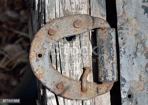 istock Old door-hinge 527441555