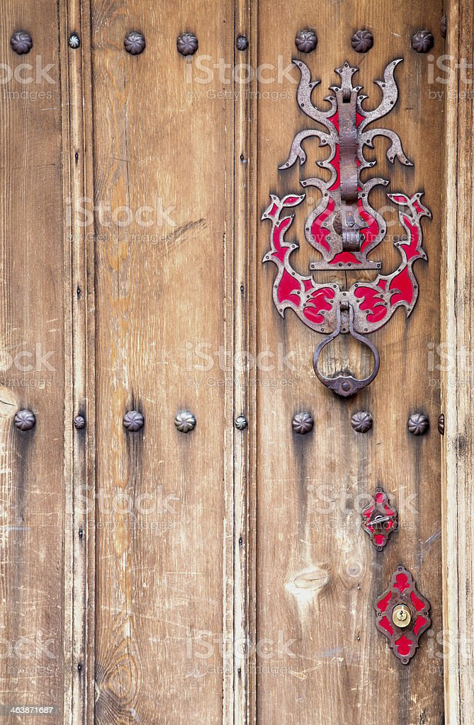 old doorknob stock photo