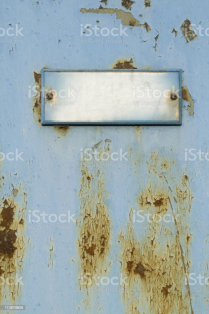 Old  doorplate royalty-free stock photo