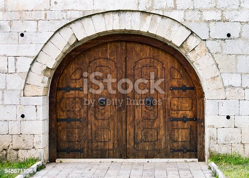 Doors in old town Pocitelj from Ottoman period.