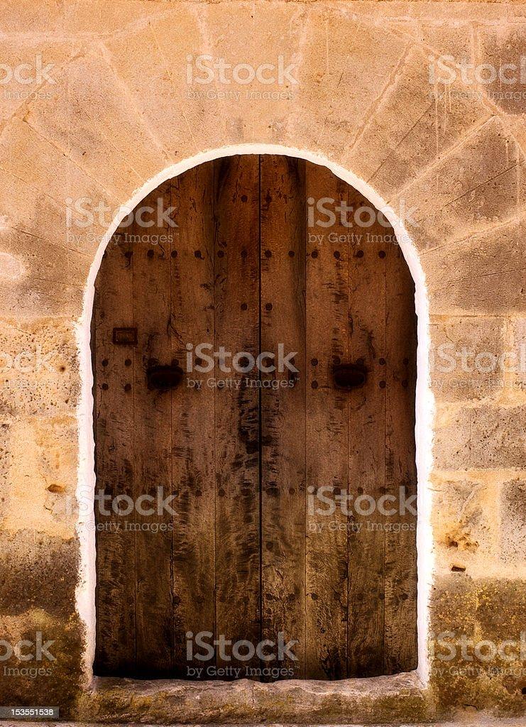 Old Doorway Mallorca stock photo