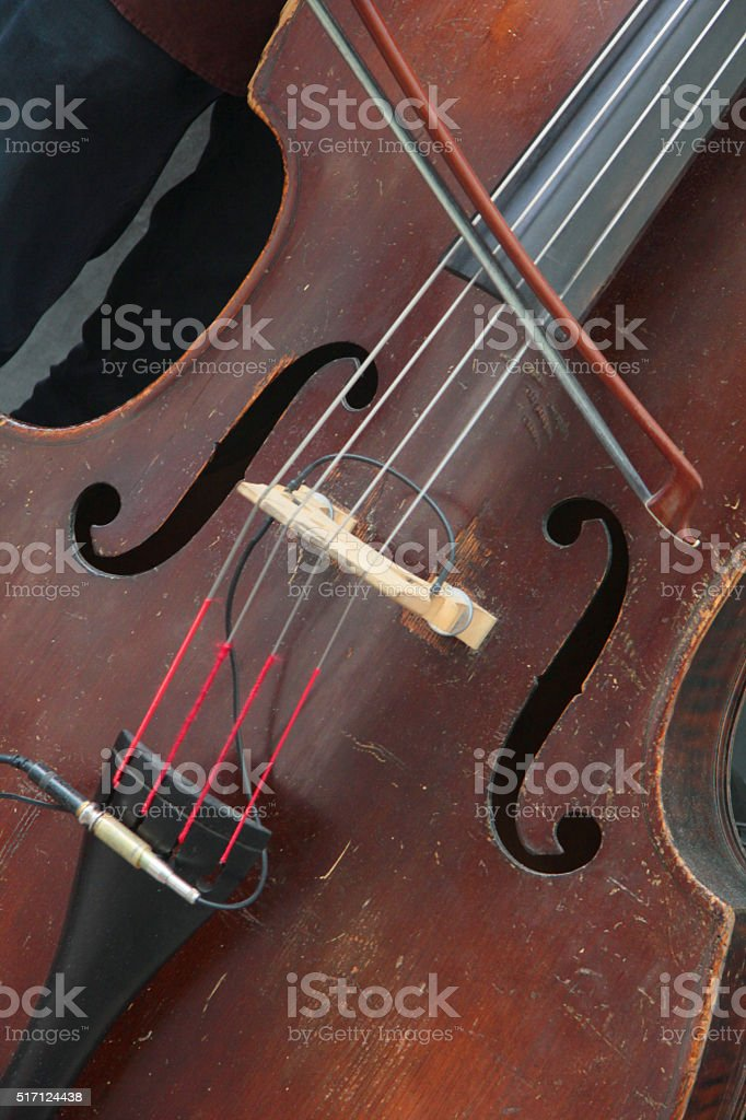 old double bass stock photo
