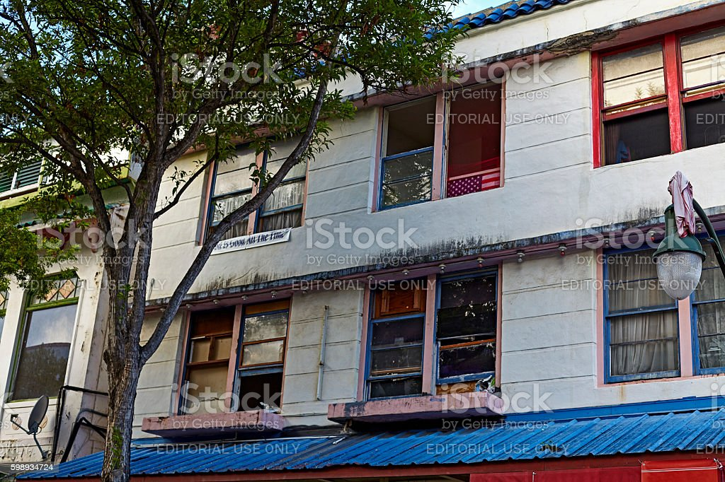 Old Downtown Chinatown Tenement housing stock photo