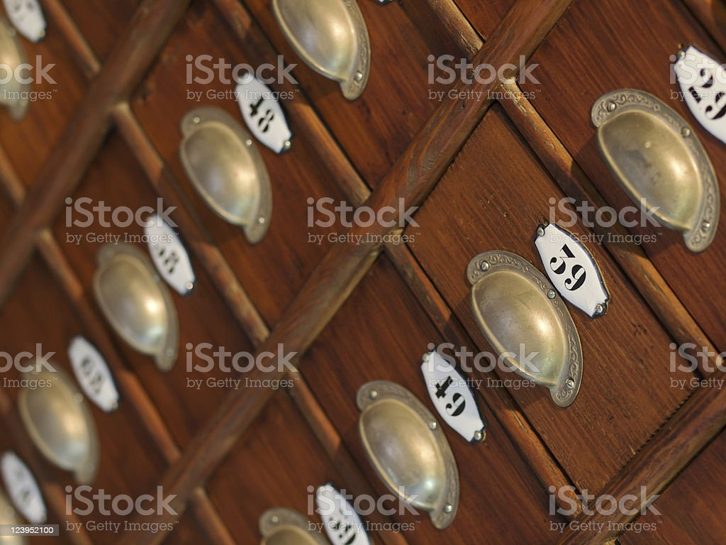 Old drawer cabinet royalty-free stock photo