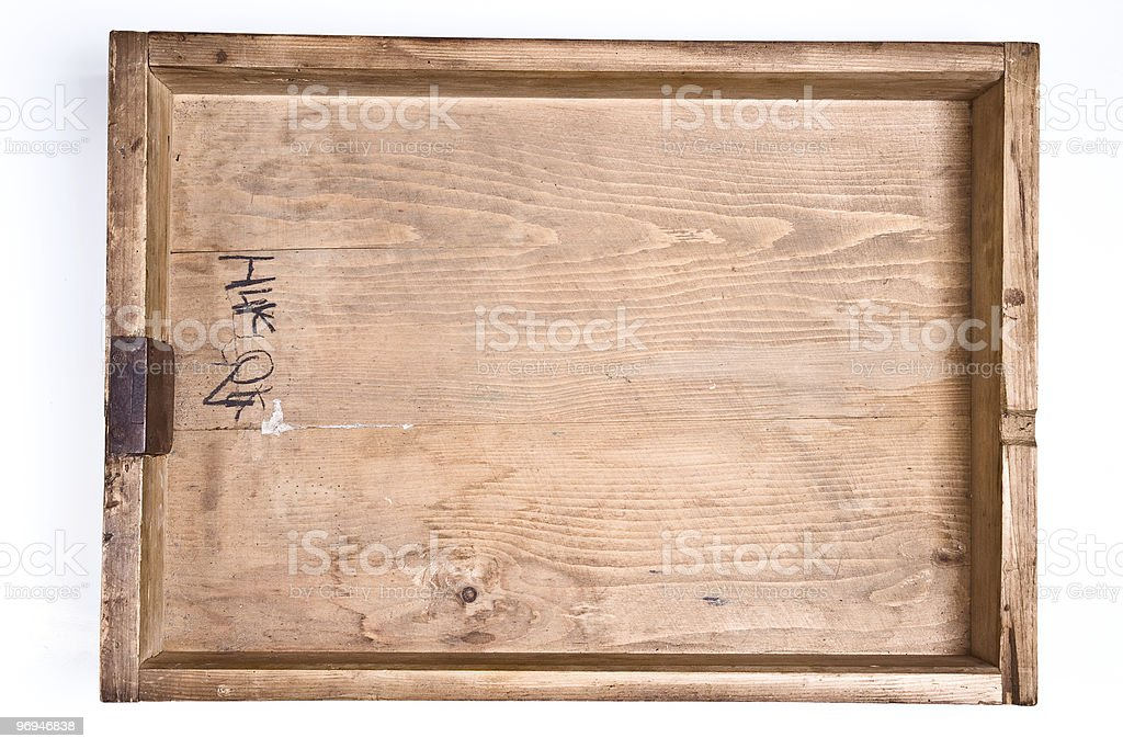 Old drawer on a white background royalty-free stock photo