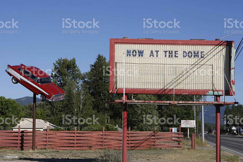 Old Drive In Sign stock photo