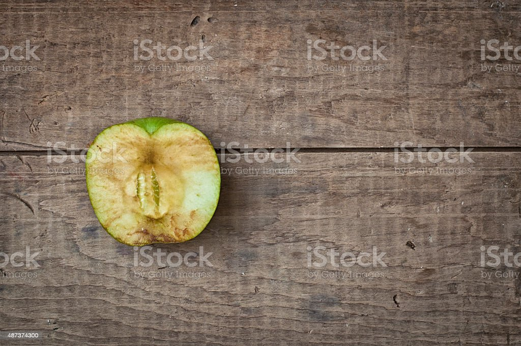 Old dry apple stock photo