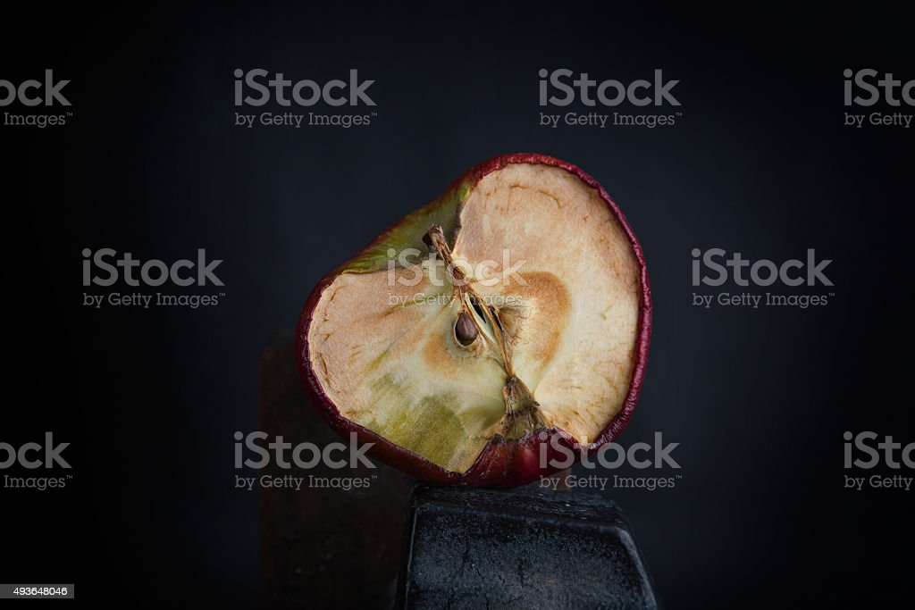 Old dry apple stock photo