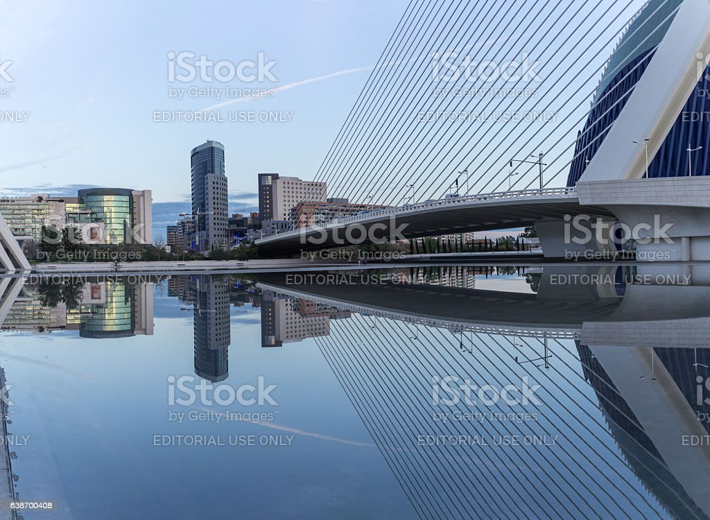 Valencia, Spain - December 20, 2016: old dry riverbed of stock photo