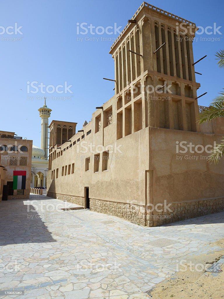 Old Dubai Architecture royalty-free stock photo