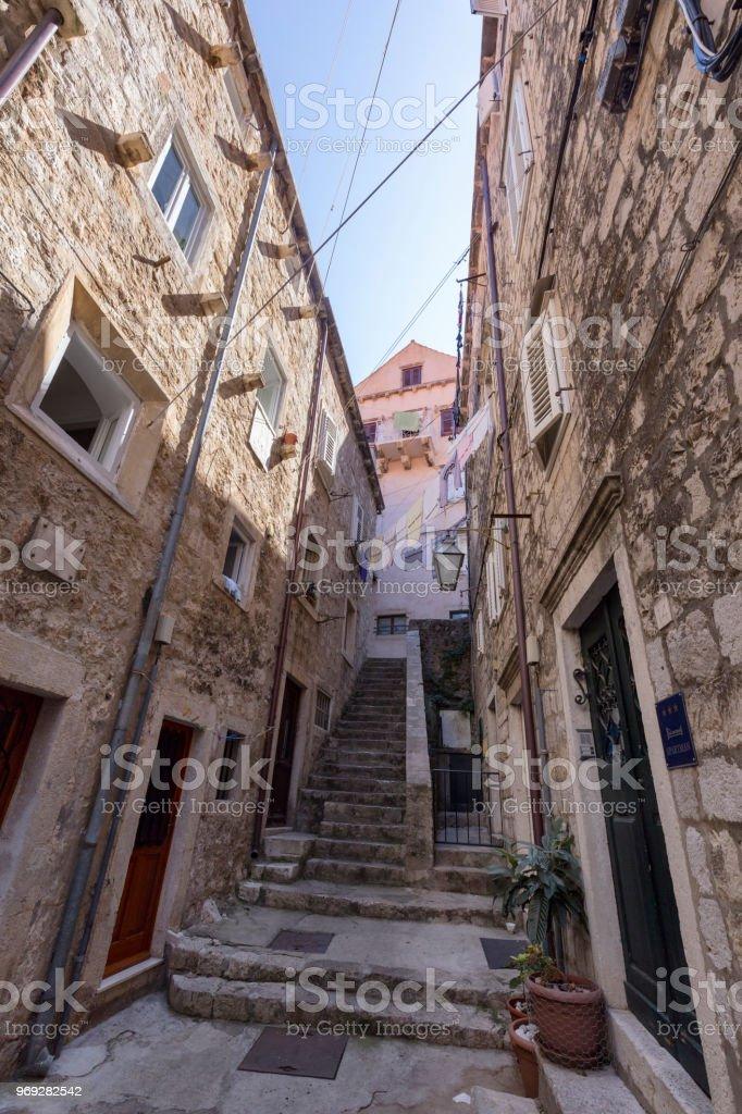 Old Dubrovnik Steps stock photo