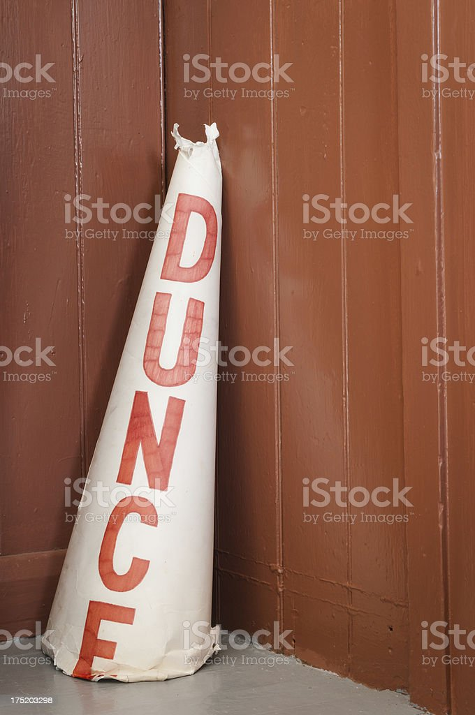 Old dunce cap stock photo