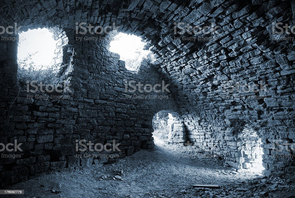 old dungeon stock photo