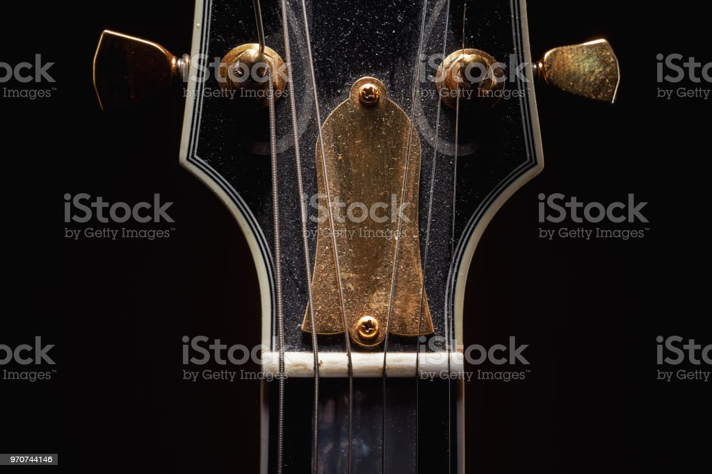 Old Dusty Electric Guitar stock photo